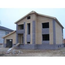 Жилой дом в Нижегородской области из силикатного кирпича, облицованный силикатным кирпичом