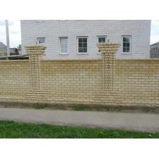 Забор в Нижегородской области из силикатного кирпича